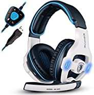 SADES SADES 903 Surround Sound Pro USB PC Stereo Noise-Canceling Gaming Headset with High Sensitivity Mic Volu