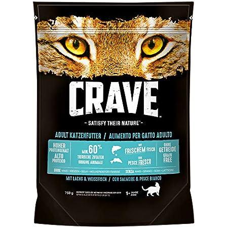 CRAVE Premium Trockenfutter für Katzen – Getreidefreies Adult Katzenfutter mit hohem Proteingehalt – 5 x 750 g
