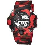YEARNLY Kinder und Jugendliche Digital Quarz Uhr mit Silikon Armband Militär Sportuhr mit Alarm/Timer/Camouflage Elektronische Digitaluhren für Jungen