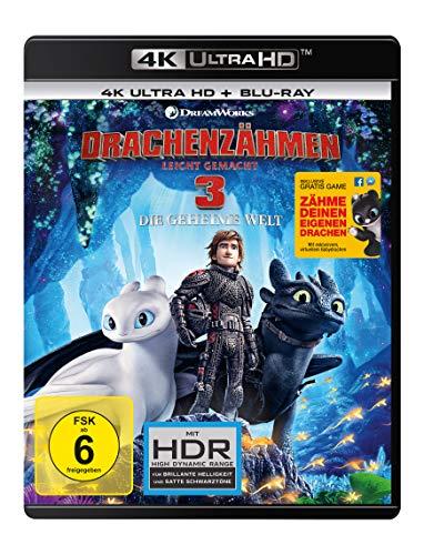 Drachenzähmen leicht gemacht 3 - Die geheime Welt (4K Ultra HD) (+ Blu-ray 2D)