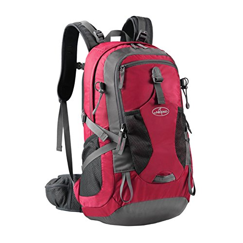 borsa a tracolla di alpinismo esterno / sacchetto impermeabile grande capacità / zaino, escursioni-viola 40L rosso