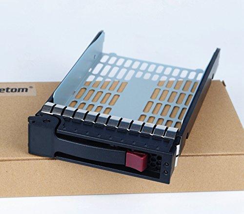 Einbaurahmen für 3,5-Zoll-Festplatten (SATA / SAS), 373211-001, kompatibel mit HP Compaq, ProLiant ML350 G4p, ML350 G5, G6, ML370 G5, DL180 G6, inkl. 4 Schrauben - Compaq-festplatte Tray