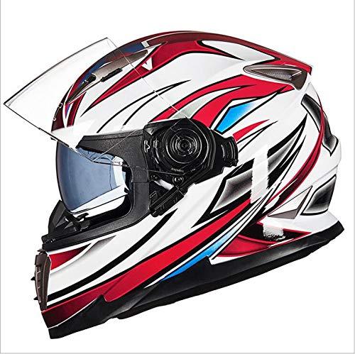 Preisvergleich Produktbild LGF Helmet Motorradhelm Ultraviolett-beständiger Visierhelm mit vielen Lüftungsfenstern Doppel-Sonnenvisum Flip vorne für Männer und Frauen halb Gesicht Vier Jahreszeiten, XL