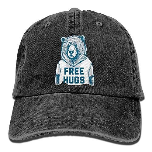 deyhfef Unisex Baseballkappe Free Hugs Denim Hat Verstellbare Baumwolle Sport Band Cap -