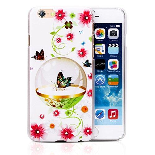 Infinite U Bijoux Charmant 3D Brillant Strass Cristal Femme Coque/Case de Protection du Téléphone Portable pour iphone 6 en 4.7 Inch 27-iphone 6/iphone 6s case