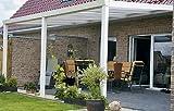ALU Terrassenüberdachung 500x400cm wahlweise in 3 Farben Montagefertig, Überdachung, Vordach