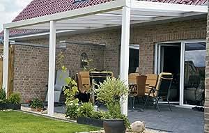 ALU Terrassenüberdachung 700x350cm wahlweise in 3 Farben Montagefertig, Überdachung, Vordach