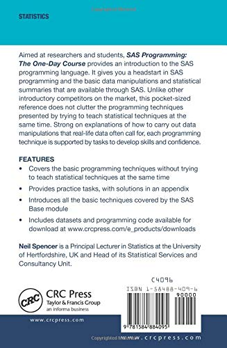 Sas Programming: The One-Day Course