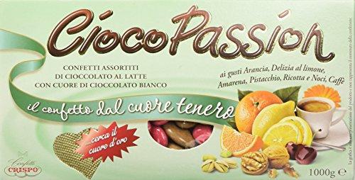 Crispo confetti cioco passion gusti - colori assortiti - 3 confezioni da 1 kg [3 kg]