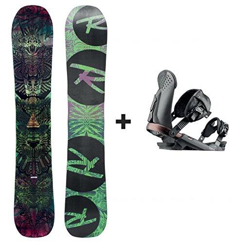 Rossignol - Pack Snowboard Krypto Magtek + Cuda V1 M/l Noir Homme - Homme - Taille m / L - Noir