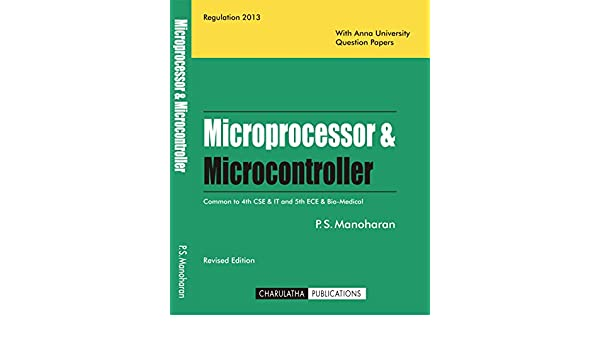Microprocessor And Microcontroller By Manoharan Pdf