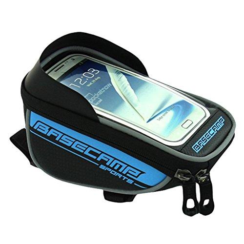 Wasserfeste Fahrradhalterung Bike Fahrrad Lenker Quick Release Fahrrad vorne Top Frame Tasche für Touch Cycling Mountain Bike Front Bag für 14cm Handy Blau