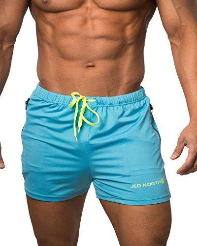 Jed North Men's Fitted Shorts Bodybuilding Workout Gym Running Tight Lifting Shorts (Herren Tight Running Shorts)