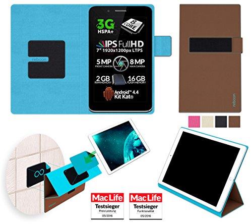 reboon Hülle für Allview Viva H7 Xtreme Tasche Cover Case Bumper | in Braun | Testsieger