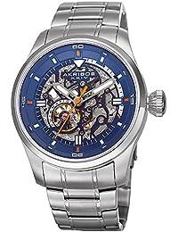 Akribos XXIV Men's Quartz Stainless Steel Casual Watch, Color Silver-Toned (Model: AK970SSBU)