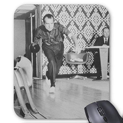 President Richard Nixon Bowling at The House Mouse Pad