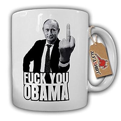 Fuck you Obama Putin Russia Humor Russland Fun Wladimir Wladimirowitsch Mittelfinger USA - Tasse Kaffee Becher #15789