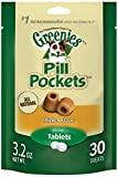GREENIES PILL POCKETS Soft Dog Treats, Chicken, Tablet, one (1) 3.2-oz. 30-count pack of GREENIES PILL POCKETS Treats for Dogs  #1 vet-recommended choice for giving pills