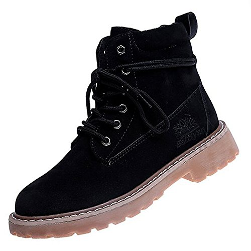 Scarpe donna pu molla Comfort di caduta di scarponi per Outdoor marrone nero,marrone,noi6.5-7 / EU37 / UK4,5-5 / CN37 Brown