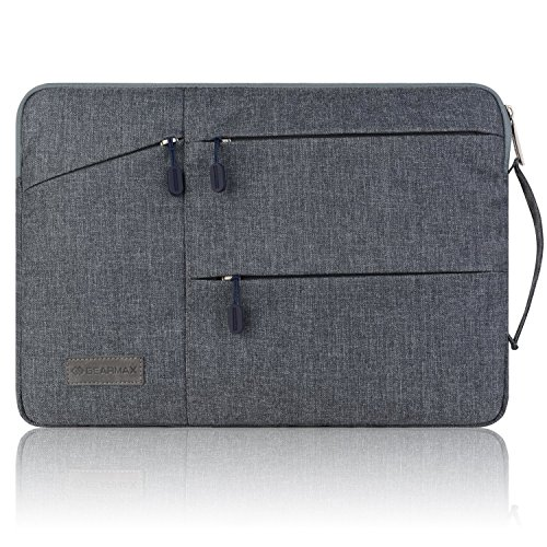 13 In Laptop Sleeve (WIWU 13 Zoll Laptop Sleeve für MacBook Air 13,3 /MacBook Pro Retina 13,3/ Dell XPS 13/ Surface Pro 4 / Book Ultrabooks Hülle Tasche Multifunktionale Aktentasche mit Vordertaschen Leichte Nylon Schutzhülle ( Grau 13 Zoll))