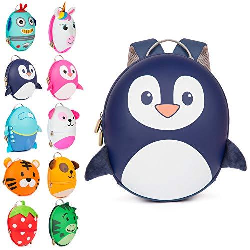 Boppi Tiny Trekker Zaino da viaggio per bambini - Zaino 4 litri - Pinguino Blu