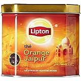 Lipton Orange Jaipur Loose Tea Tin with Real Tea Leaves, IMPORTED