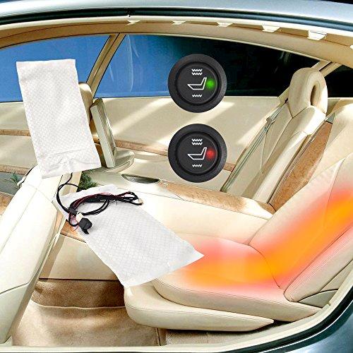 Carbon Sitzheizung Universal PKW 12V mit Stufenschalter 3-Stufen