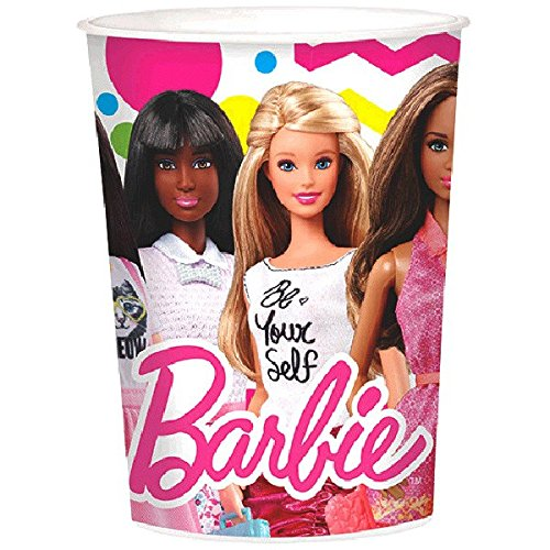 Amscan 42.50 Barbie Sparkle Kunststoff für Tassen (Party-tassen Barbie)