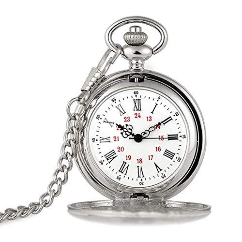 (SCH Pocket Watches Vintage Taschenuhr des weißen Kragenzubehörs)
