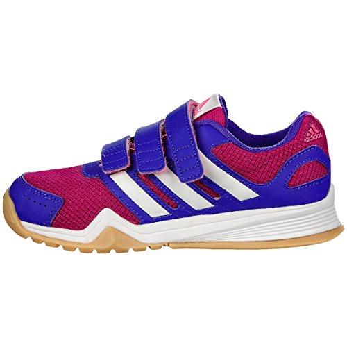 Adidas Kinder Hallenschuhe Sportschuhe interplay CF K Mädchen/Jungen, Schuhgröße:35;Farbe:Pink