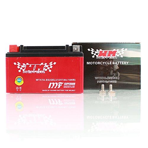 YTX7A-BS Gel Batterie Motorrad Roller Quad 7AH 12V WM Motor Sport