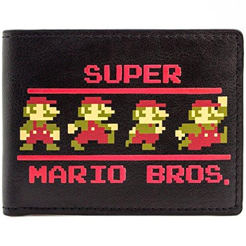 Cartera de Nintendo Super Mario Bros Pixel 9-Bit Negro