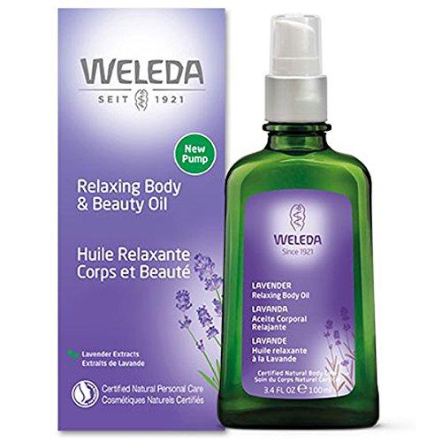 WELEDA Lavendel Entspannungsöl (1 x 100 ml) - entspannendes Massage-Öl zur Pflege der Haut