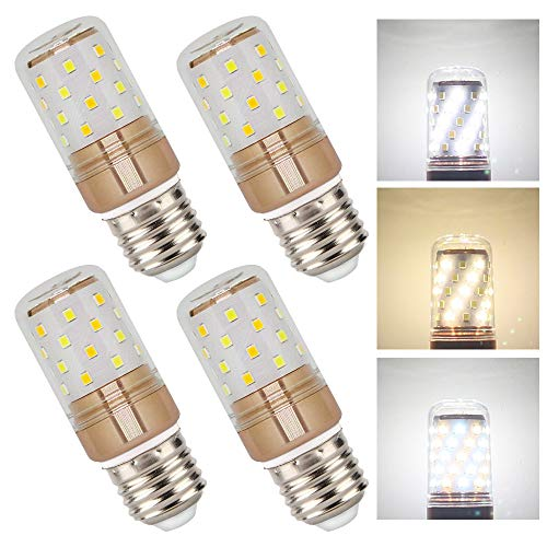 E27 LED-Leuchtmittel, hell, 12 W, Tageslicht-Weiß, 1000 lm, 6 W warmweiß/kaltweiß E27 LED Maisbirne, entspricht 100 W Glühlampe, nicht dimmbar, 4 Stück -