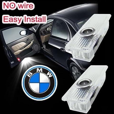 2LED Car Door Welcome Laser Logo Proiettore luce per BMW