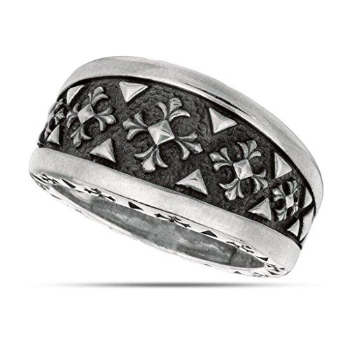 jewelryaffairs Oxidation Malteser inspiriert Ring in Sterling Silber -