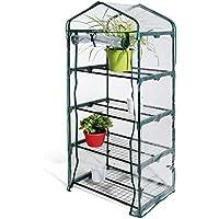Serra 4 ripiani telo in PVC struttura acciaio 69x49x157cm piante balcone 647/2