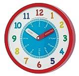 London Clock Tell The Time Teach The time 24183di apprendimento, orologio da parete per la camera dei bambini, al quarzo