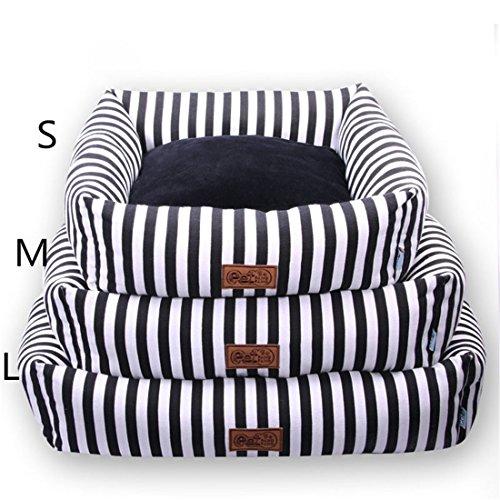 Hund Bett Katze Sofa Weiß Schwarz Zebra Streifen Mit Abnehmbar Matte - Klein Mittel Haustier Waschbar Kissen Hündchen Kätzchen Matratze Zwinger , S - Zebra Liege