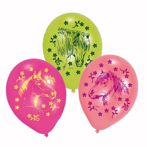 PARTY DISCOUNT Luftballon Pferde, 6 Stück