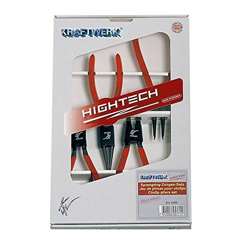 Kraftwerk 4286-Set de 4 pinces circlips hightech