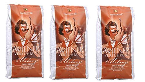 Sonnentor Melange Kaffee ganze Bohne Wiener Verführung, bio, 3 x 1000g