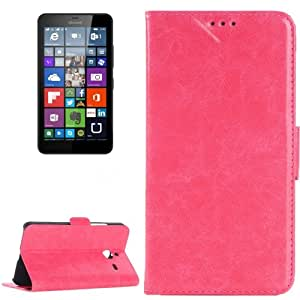 Crazy Horse Texture Horizontal Flip Leather Case with Card Slots & Holder for Microsoft Lumia 640 XL (Magenta)