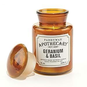 Paddywax - Bougie cire soja 236ml apothicaire - Géranium & basilic