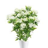 NAHUAA 4 Pièces Jasmin Artificiel Plante Artificielles Blanc Fleurs Bouquet Fausses Branches Plantes pour Jardin Fleur Décor Maison Intérieur Extérieur