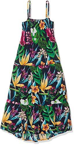 NAME IT Mädchen Nkfvinaya Strap Maxi Dress H Kleid, Mehrfarbig (Dark Sapphire), (Herstellergröße:164)