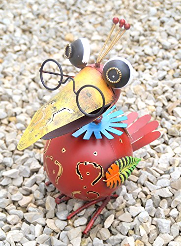Dekofigur Vogel Lola, Gartenfigur aus Metall, GD129 (Metall-tier)