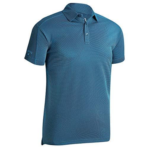 Callaway Mens SS 2 Farbe Mode Jacquard-Polo-Hemd - Deep Dive - XXXL -