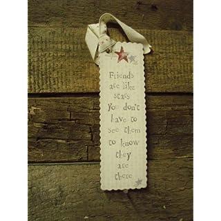 East of India Cardboard Bookmark - Friends are Like Stars