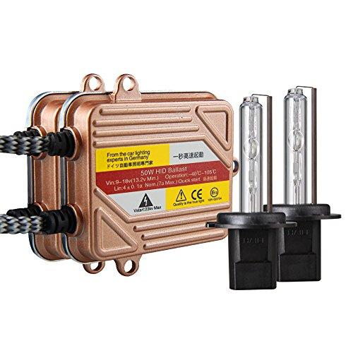 KOYOSO Lampadine H7 Kit Xenon HID 6000K 50W Slim Centraline Lampade di Avvio Rapido